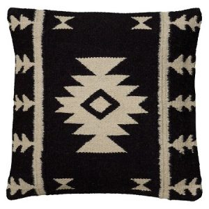 Black and Ivory Kilim Pillow | The Factual Fairytale