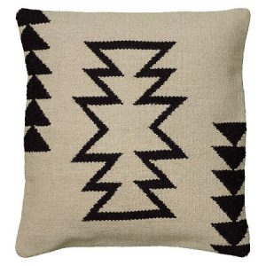 Ivory and Black Kilim Pillow | The Factual Fairytale