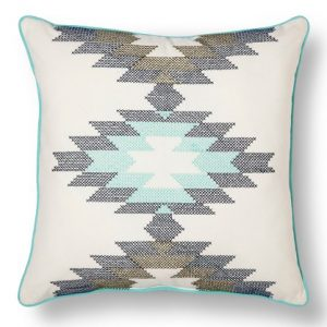 Mint Aztec Kilim Pillow | The Factual Fairytale