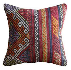 Tribal Turkish Kilim Pillow | The Factual Fairytale