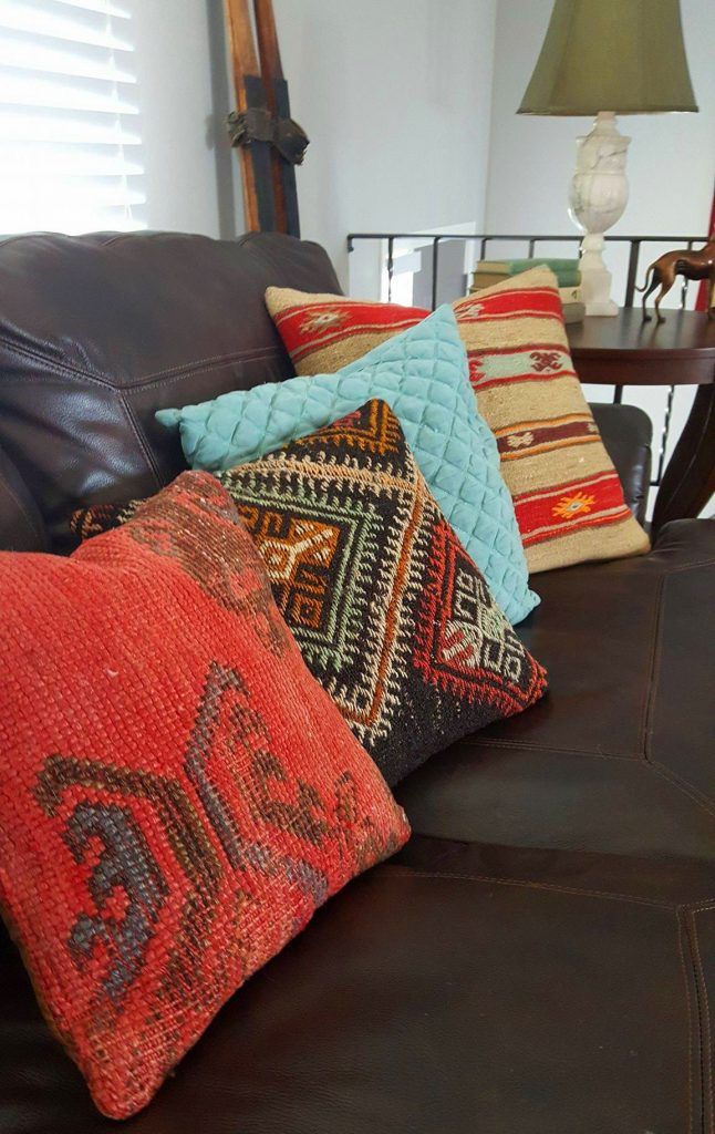 kilim pillows couch living room