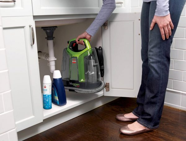 Bissell portable spot cleaner vs. upright carpet cleaner