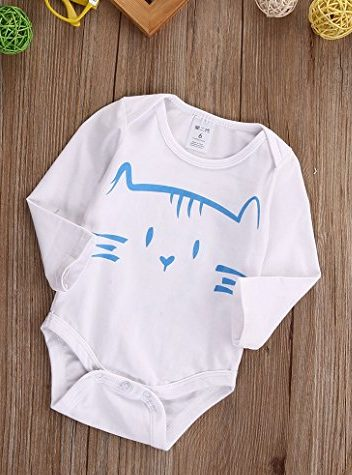 Cat Onesie Front | cheap baby clothes online | Amazon