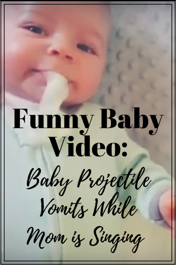 Funny Baby Video: Baby projectile vomits while mom is singing