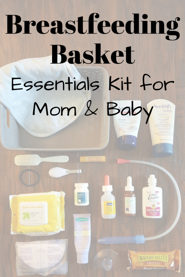 Breastfeeding Basket: Essentials kit for mom and baby