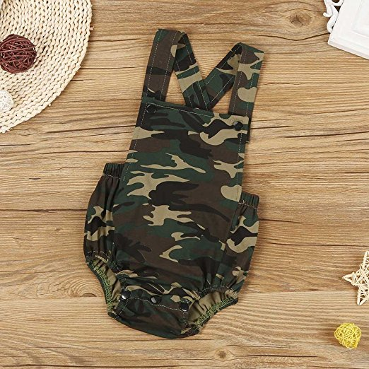 camo romper | trendy cheap baby clothes online