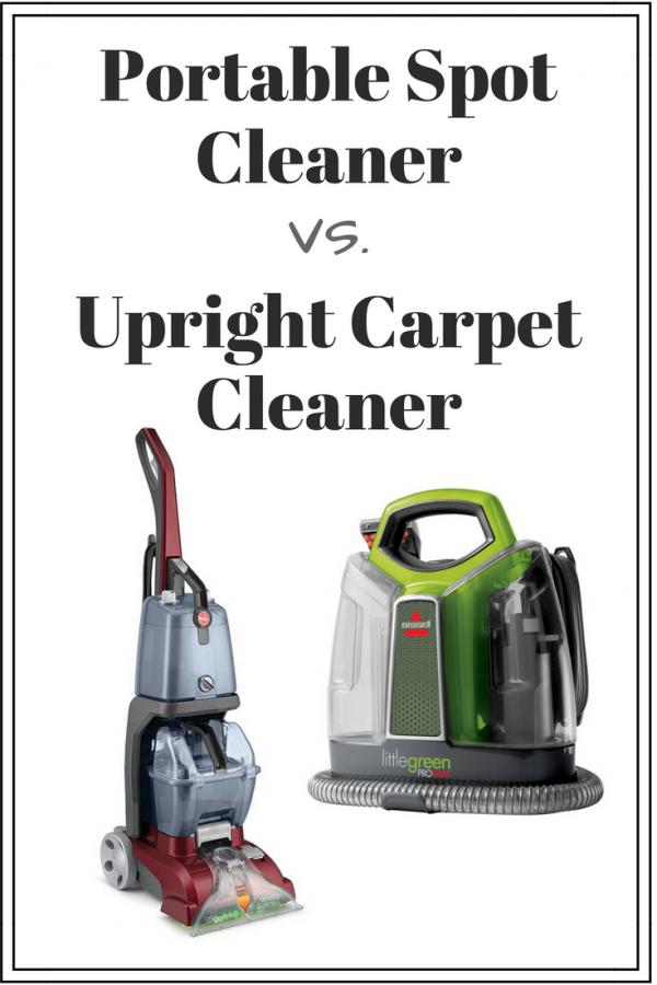 portable spot cleaner vs. upright carpet cleaner