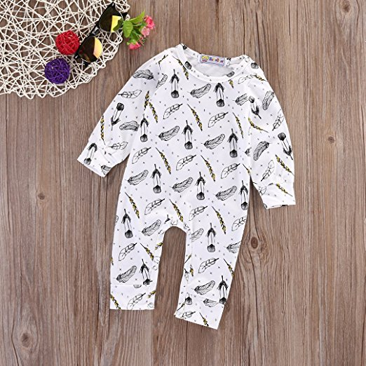 Feather romper | Trendy Cheap Baby Clothes Online