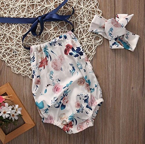 Floral Ribbon Tie Romper | Trendy Cheap Baby Clothes Online