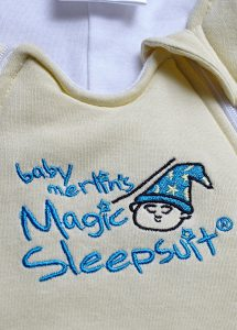 baby merlin's magic sleepsuit review close up