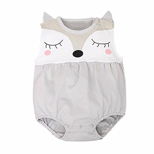 Owl Face Romper | Trendy Cheap Baby Clothes Online