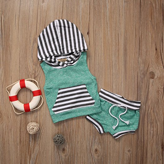 Stripe shorts outfit | Trendy Cheap Baby Clothes Online