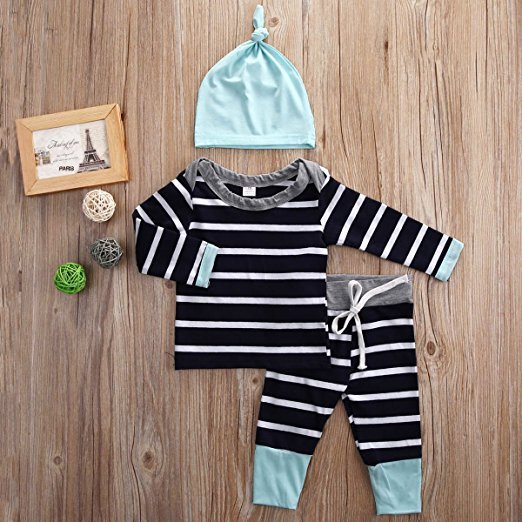 striped aqua outfit | cheap baby clothes online | Amazon
