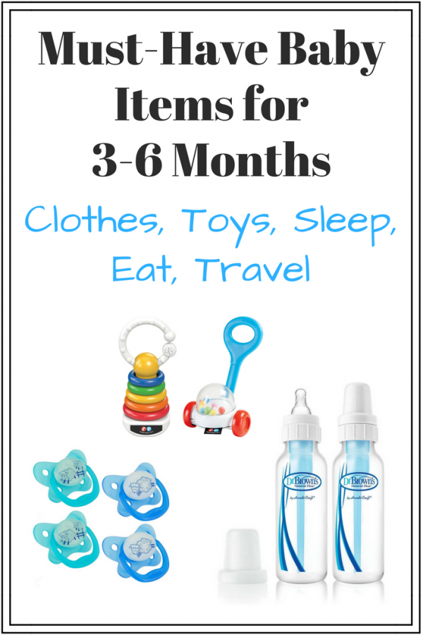 must have baby items for 3-6 months