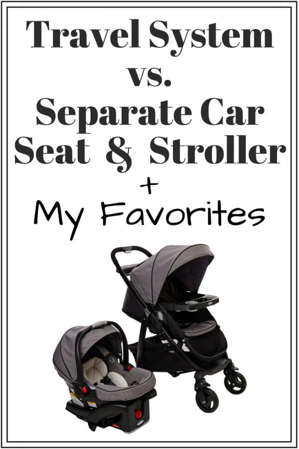 travel system vs separate car seat stroller