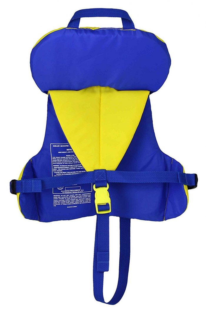 Stohlquist Infant PFD Life Vest Back | The Best Infant Life Vest