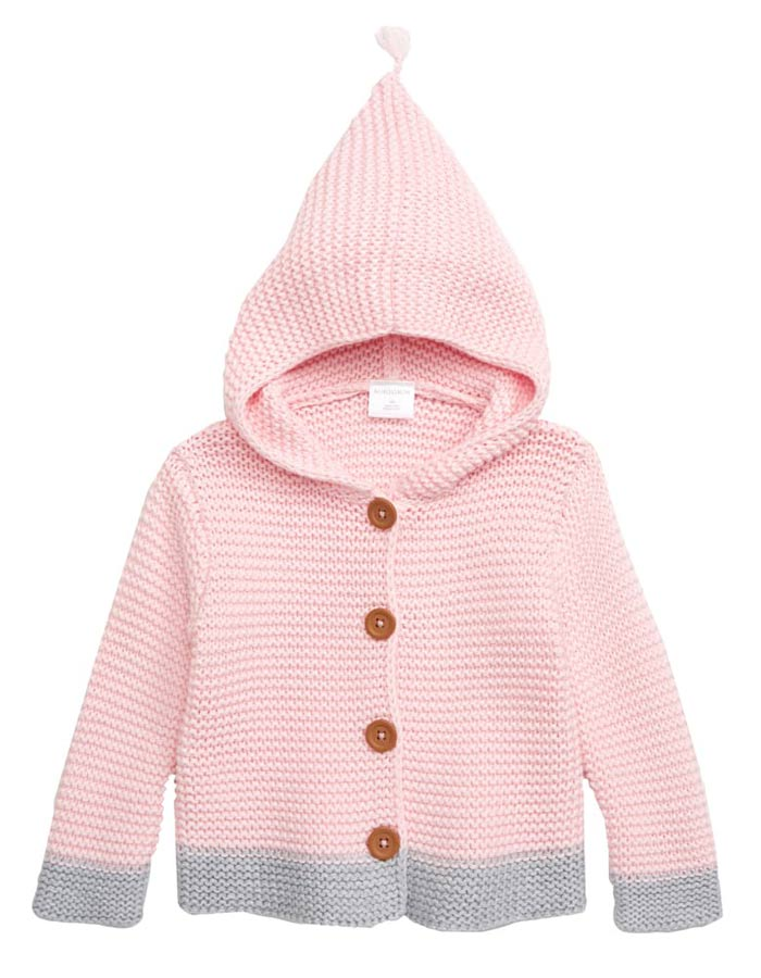 pink hooded sweater