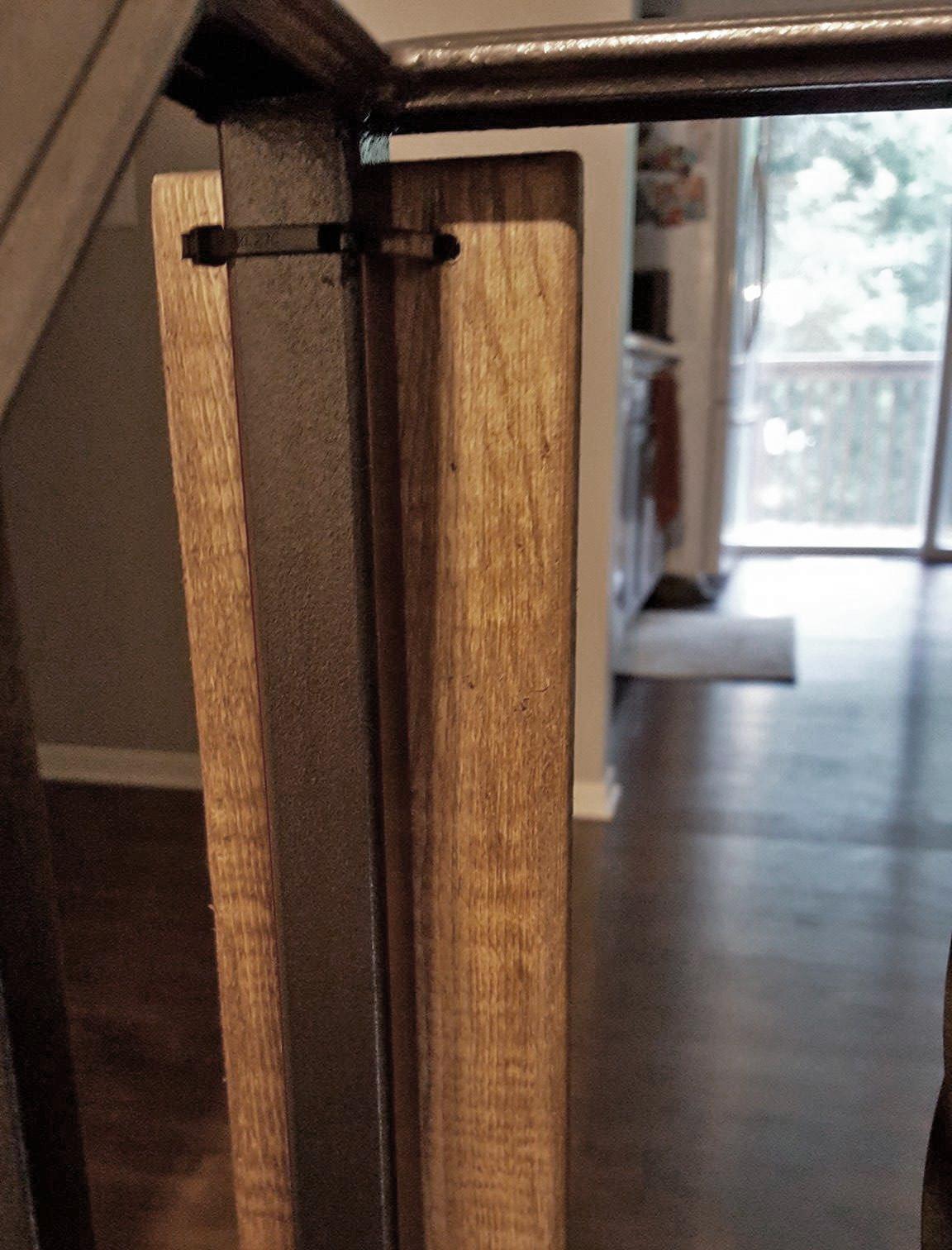 Top Back of Baby Gate Door Frame
