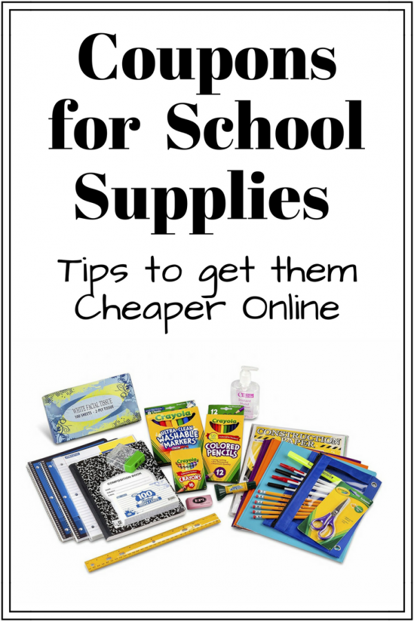 Coupons for School Supplies and Tips to get them Cheaper Online