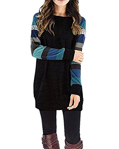 black blue cheap tunic top