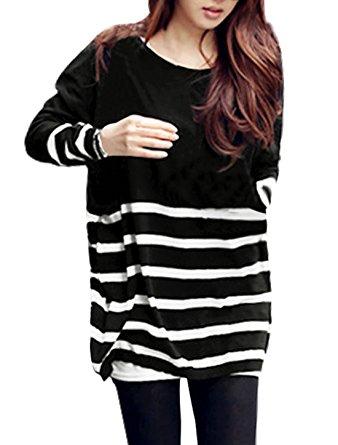 black striped cheap tunic top