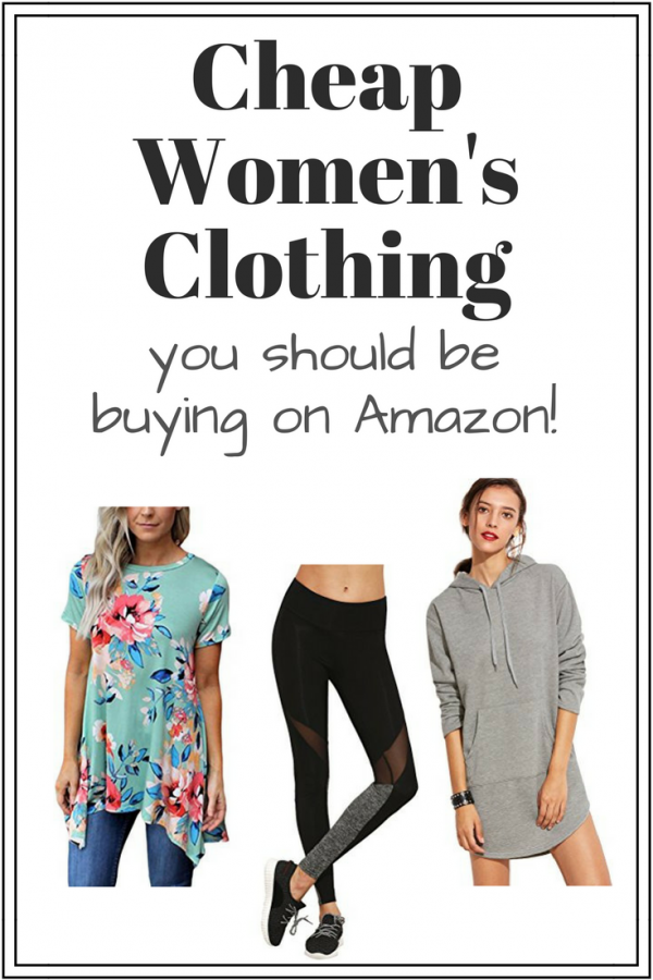 3190ebd50112f Cheap Women's Clothing on Amazon: Tunic Tops, Leggings & More!