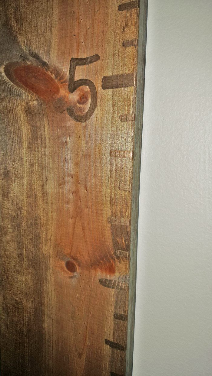 Easy DIY Growth Chart Wood Ruler for Kids