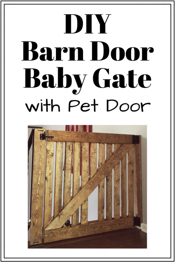 DIY Barn Door Baby Gate with Pet Door Instructions