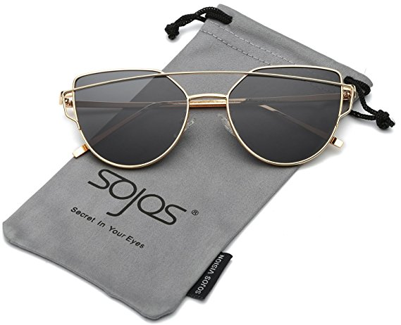 gold grey cateye sunglasses