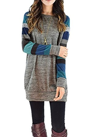 grey blue cheap tunic top