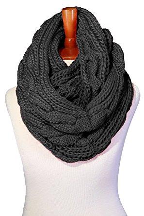grey chunky infinity scarf