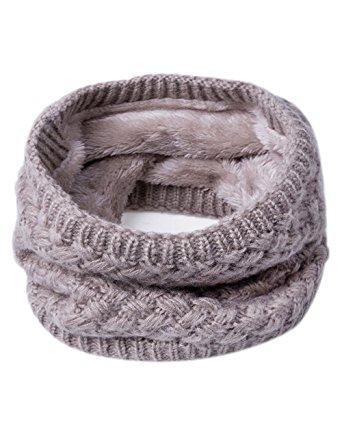 knit fur funnel scarf