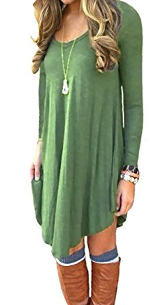 long sleeve tunic olive green