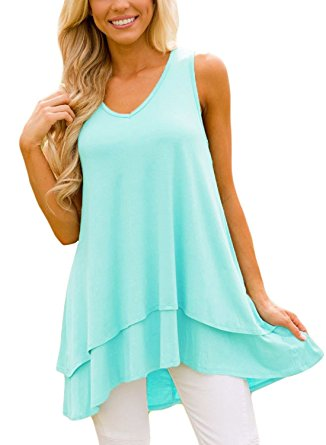 mint layered cheap tunic top for leggings