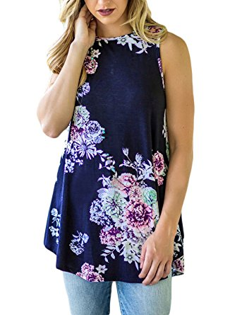 navy floral cheap tunic top