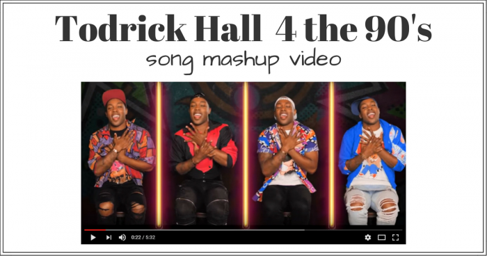 todrick hall for the 90s song mashup video
