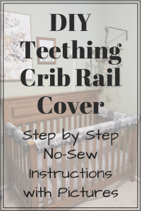 Baby Crib Rail Cover DIY: No-Sew Instructions with Pictures