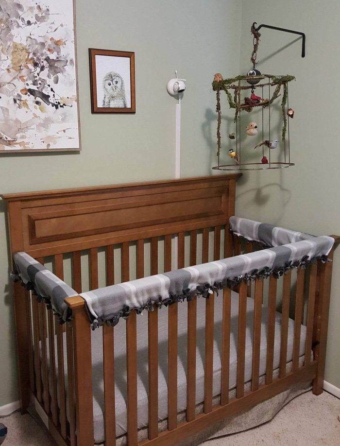 Baby Crib Rail Cover Diy No Sew Instructions With Pictures