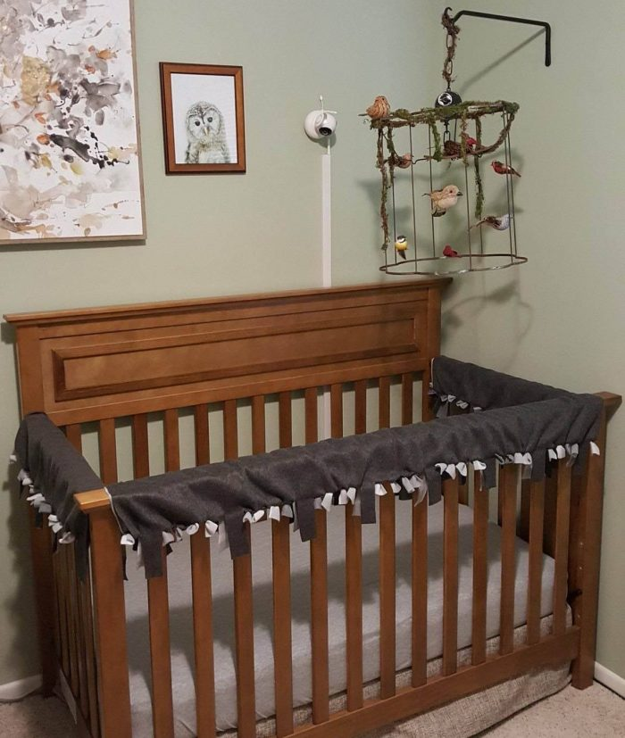 crib rail cover diy reversible