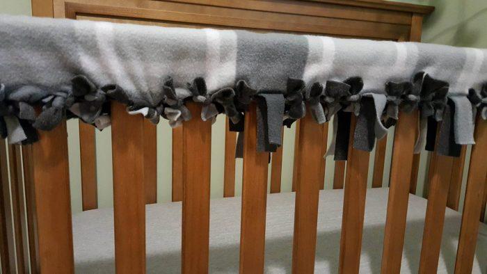 crib rail cover diy tying to crib