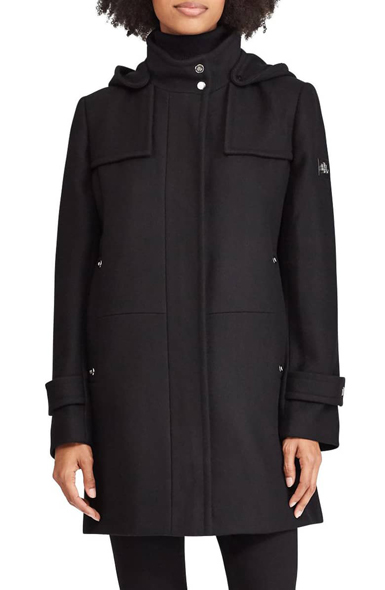 KCNY Bonded Hooded A-Line Jacket