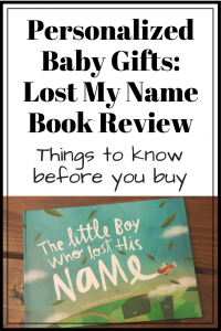 Wonderbly Lost My Name Book Review: Personalized Baby Gifts