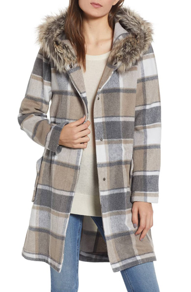 You Oughta Know Plaid Coat bb dakota