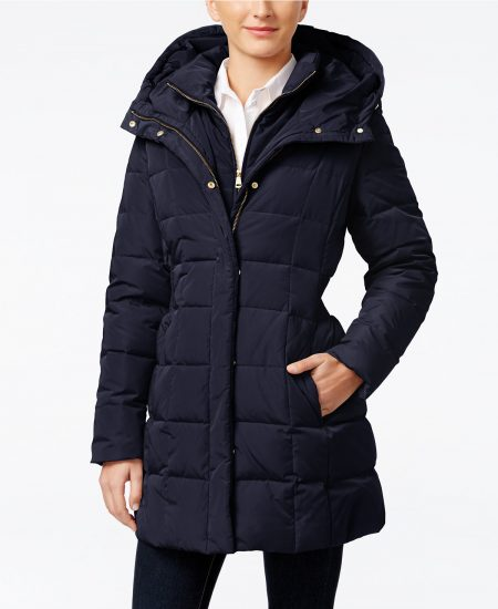 cole haan navy puffer coat macys