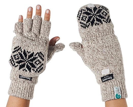 fair isle knit mitten gloves