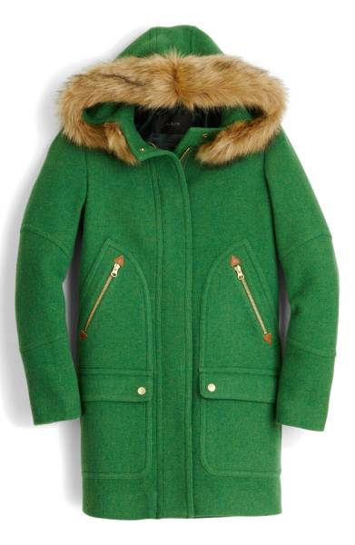 j crew green wool coat nordstrom