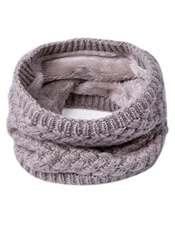 knit fur scarf snood