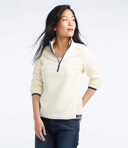 llbean fleece pullover womens winter clothes