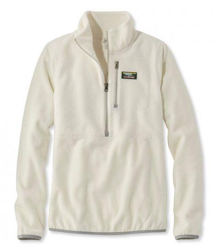 llbean fleece zip pullover