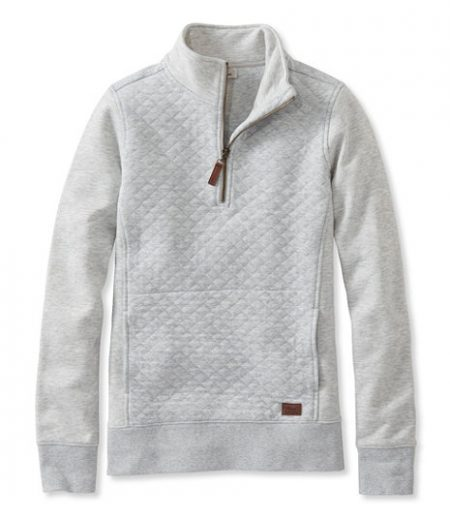 llbean quilted pullover